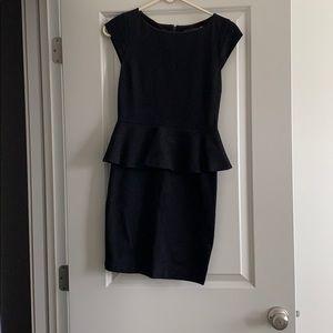 Black Alice + Olivia Peplum dress